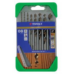 Coffret 8 forets technic bois, Diam.2-3-4-5-6-7-8-10 mm TIVOLY de marque TIVOLY, référence: B5794500