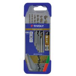 Coffret de 6 foret technic multimatériau TIVOLY 10.80447, Diam.4-5-6-8-10 mm de marque TIVOLY, référence: B5795600