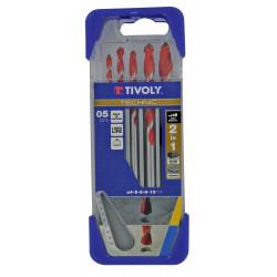 Coffret de 6 forets technic multimatériau, Diam.2 à 8 mm TIVOLY 10.91307 de marque TIVOLY, référence: B5795800