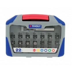 Coffret embouts de vissage 22 pièces +porte embouts TIVOLY de marque TIVOLY, référence: B5796600
