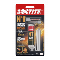Colle seringue époxy Loctite n°1 LOCTITE, 11 g de marque Loctite, référence: B5799900