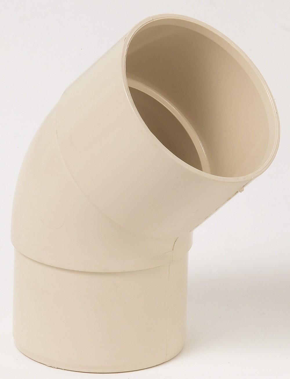 Coude 45° pvc sable GIRPI, Dév.16 cm Diam.50 mm