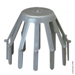 Crapaudine gris pvc D.80mm de marque GIRPI, référence: B5808200