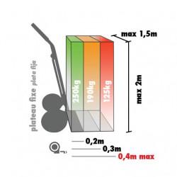 Diable rigide HAILO, charge garantie  250 kg de marque HAILO, référence: B5820600