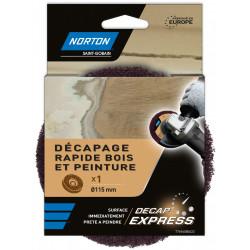 Disque décapant express NORTON, 115 mm, bois et vernis de marque NORTON, référence: B5821300