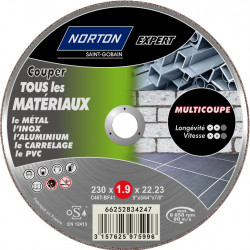 Disque multi-coupes pour multimatière NORTON, Diam.230 mm de marque NORTON, référence: B5822900