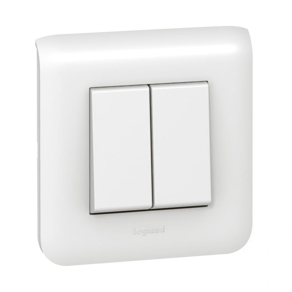 Double interrupteur va-et-vient Mosaic, blanc, LEGRAND