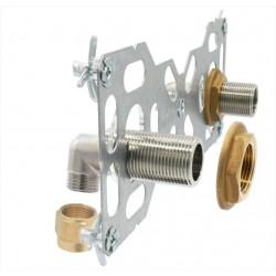 Double sortie cloison mâle à compression pour tube multicouche,Diam.16mm 20x27mm de marque QUICK PLOMBERIE, référence: B5823100