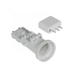 Douille B22 et fiche DCL plastique blanc DEBFLEX de marque DEBFLEX, référence: B5823600