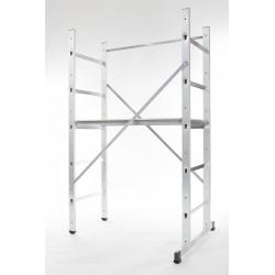 Echafaudage aluminium Hobbystep h3 hauteur de travail 3 m de marque HAILO, référence: B5826300