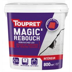 Enduit de rebouchage TOUPRET + spatule 800ml en pâte allégée pour mur et plafond de marque Toupret, référence: B5830400