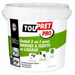 Enduit pour bande à joint TOUPRET 2 en 1 15 kg en pâte, pour plaque de plâtre de marque Toupret, référence: B5832000