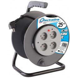 Enrouleur électrique bricolage avec terre L.25 m ho5vvf 3g1.5, ELECTRALINE de marque ELECTRALINE, référence: B5833400