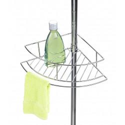 Etagère de bain / douche d'angle à poser, chromé brillant, Dolcedo de marque WENKO, référence: B5839200
