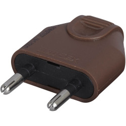 Fiche électrique mâle 2 pôles, 6 A, DEBFLEX de marque DEBFLEX, référence: B5843200