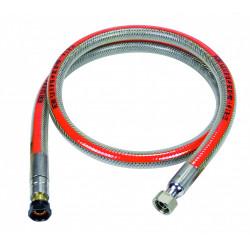 Flexible inox gaz bp validité illimitée garantie à vie, H.1m GAZINOX Security de marque GAZINOX, référence: B5846300