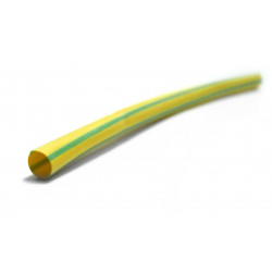 Gaine thermorétractable vert / jaune, L.1 m, Diam.6.4 mm, ZENITECH de marque ZENITECH, référence: B5859400