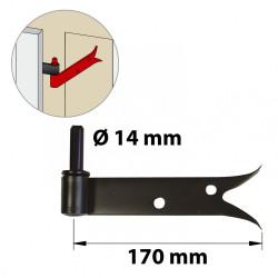 Gond tableau acier prépeint, H.80x Diam.14 mm de marque AFBAT, référence: B5863800