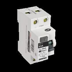 Interrupteur différentiel DEBFLEX, 30 mA 63 A A de marque DEBFLEX, référence: B5871800