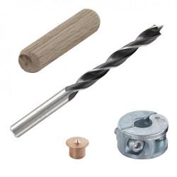 Kit centreurs forets tourillons Diam.10 mm WOLFCRAFT de marque WOLFCRAFT, référence: B5876800