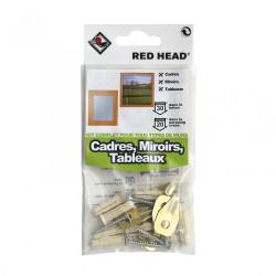 kit chevilles à expansion cadre, miroir et tableau RED HEAD, Diam.6 x L.25 mm de marque Red head, référence: B5877100