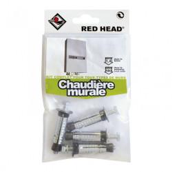 kit chevilles à expansion chaudière murale RED HEAD, Diam.12 x L.50 mm de marque Red head, référence: B5877200