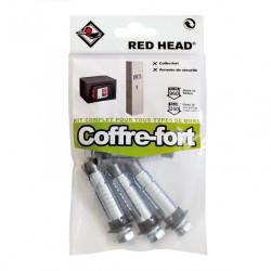 kit chevilles à expansion coffre fort RED HEAD, Diam.14 x L.55 mm de marque Red head, référence: B5877300