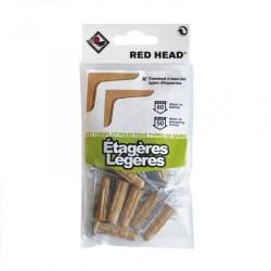 kit chevilles à expansion etagère légère RED HEAD, Diam.8 x L.32 mm de marque Red head, référence: B5877500