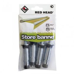 kit chevilles à expansion store de terrasse RED HEAD, Diam.16 x L.65 mm de marque Red head, référence: B5878200
