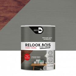 Lasure intérieurepoutre et lambris Relook bois MAISON DECO, anthracite satiné, 1 de marque MAISON DECO, référence: B5885800