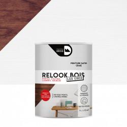 Lasure intérieurepoutre et lambris Relook bois MAISON DECO, craie satiné, 1 l de marque MAISON DECO, référence: B5886000