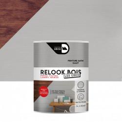 Lasure intérieurepoutre et lambris Relook bois MAISON DECO, galet satiné, 1 l de marque MAISON DECO, référence: B5886300