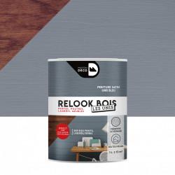 Lasure intérieurepoutre et lambris Relook bois MAISON DECO, gris bleu satiné, 1 de marque MAISON DECO, référence: B5886500