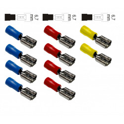 Lot de 10 cosses clips femelles ZENITECH de marque ZENITECH, référence: B5898900