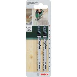 Lot de 2 lames coupe fine et nette BOSCH T101b pour lambris, bois et pvc de marque BOSCH, référence: B5915700