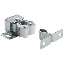 Lot de 2 loqueteaux à pression acier HETTICH, L.28 x l.33 mm de marque HETTICH, référence: B5917500