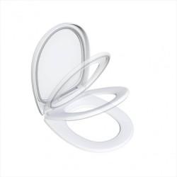 Abattant frein de chute déclipsable blanc Click & clean silence de marque BEMIS, référence: B5920400
