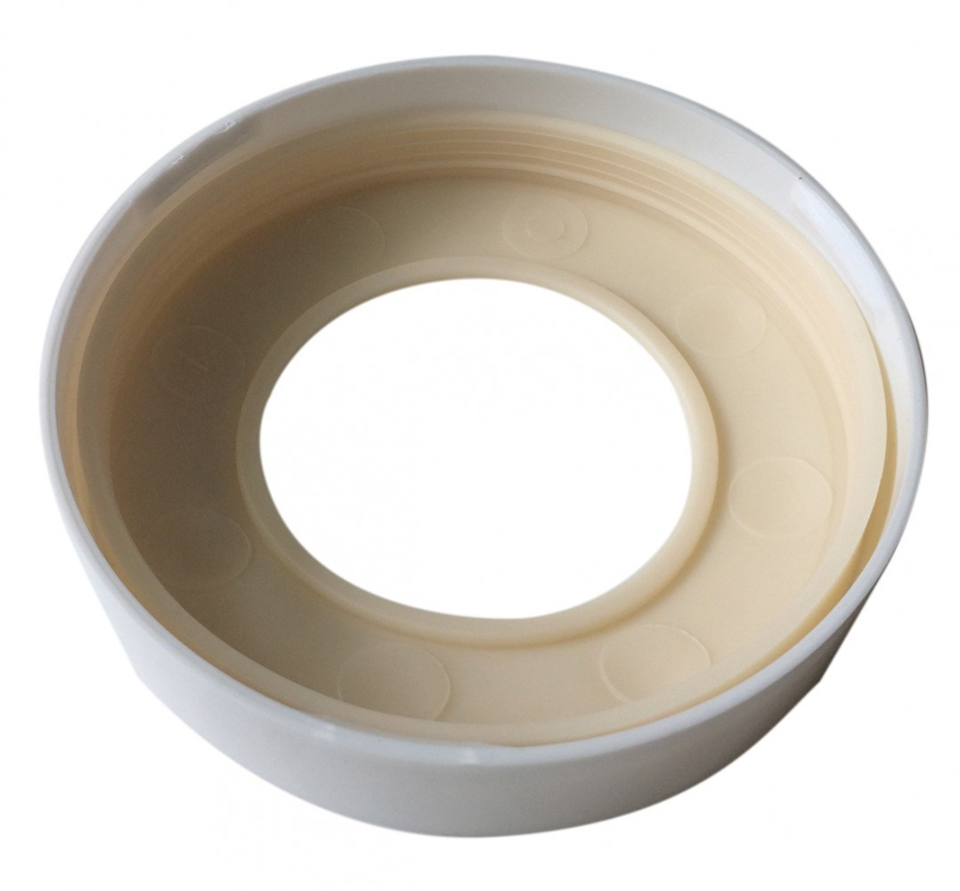 Bague et joint pipe wc rigide, pour sortie de cuvette, WIRQUIN l.2.4 x H.22.5