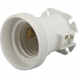 Lot de 5 douilles électriques e27 à vis thermoplastique blanc ZENITECH de marque ZENITECH, référence: B5928300