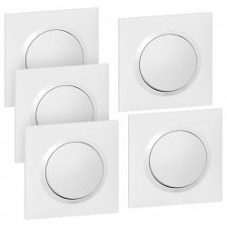 Lot de 5 interrupteurs va-et-vient complet, LEGRAND Dooxie, blanc de marque LEGRAND, référence: B5928500