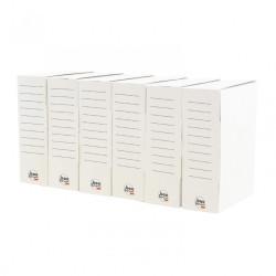 Lot de 6 boïtes à monter Utility carton renforcé , l.8 x P.25 x H.33 cm de marque PACK AND MOVE, référence: B5936000