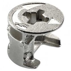 Lot de 8 raccords d'assemblage rastex acier poli HETTICH, l.12.2 mm de marque HETTICH, référence: B5942400