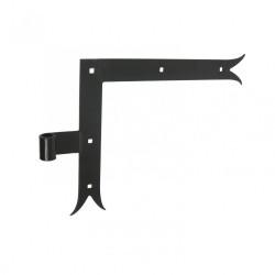 Paire d'équerres acier prépeint, H.250 x L.300 x P.21 mm de marque AFBAT, référence: B5967600