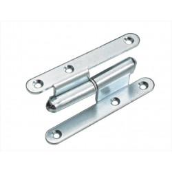 Paumelle acier pour meuble HETTICH, L.110 x l.44 mm de marque HETTICH, référence: B5975000
