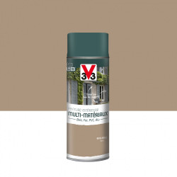 Peinture aérosol Extérieur multi-matériaux V33, beige argile satiné, 0.4 l de marque V33, référence: B5980100