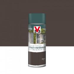 Peinture aérosol Extérieur multi-matériaux V33, brun havane satiné, 0.4 l de marque V33, référence: B5980300