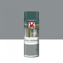 Peinture aérosol Extérieur multi-matériaux V33, gris galet satiné, 0.4 l de marque V33, référence: B5980400