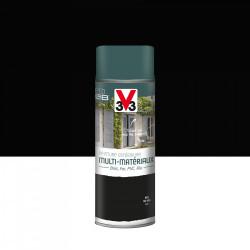 Peinture aérosol Extérieur multi-matériaux V33, noir satiné, 0.4 l de marque V33, référence: B5980500