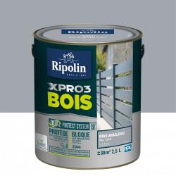 Peinture bois extérieur / intérieur Xpro3 RIPOLIN, gris bouleau satiné 2.5 l de marque RIPOLIN, référence: B5983900