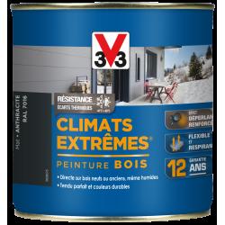 Peinture bois extérieur Climats extrêmes® V33, anthracite mat 0.5 l de marque V33, référence: B5985200